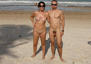 Check out gorgeous blonde nudists having some fun